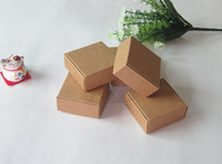7.5x7.5x3cm,kraft paper Gift boxes,Handmade Soap Packaging Boxes,Jewelry Box,FREE SHIPPING