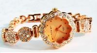 Fashion flower surface high-grade fine Rhinestone Bracelet Watch free postage