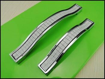 Crystal Kitchen Cabinet Drawer Furniture Handle Pull Hardware(C.C.:128mm,Length:145mm)