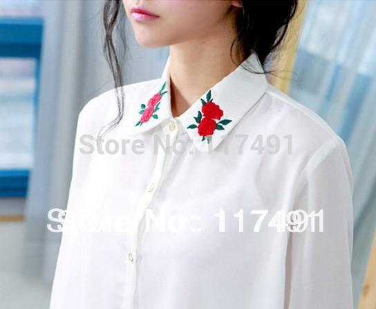 Образцы украшения блузки лентой