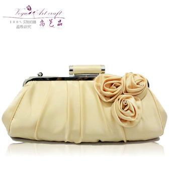 All-match commercial ol women's handbag wedding bag hand roll rose evening bag day clutch