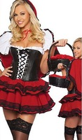 Sexy Csotumes,Fancy Dresses, Little Red Riding Hood,Wolf Bait Costume 8553+ Cheaper price + Free Shipping+ Fast Delivery