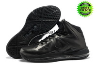 Fast Shipping Wholesale Famous Player Lebron 10 X Men's Sports Basketball Shoes (black / white)
