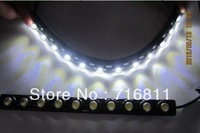 Flexible 18LED 13W 36cm led daytime running light condenser lens DRL Eagle-eye light super bright free shipping