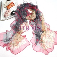 2014 Top Fasion Time-limited Freeshipping Shawl, Wrap >175cm Women Fashion Children Pure Silk Scarf Long for Mulberry Bubble