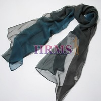 2014 Sale Limited Freeshipping Shawl, Wrap >175cm Women Hrms Hot-selling Silk Scarf Spring And Autumn Transition Color Cape Navy