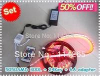 5050 RGB Led Strip Flexible lighting 60led/m 300 LED/5m SMD non-waterproof DC 12V+ IR Remote Control + 6A Power Supply