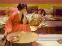 The Picture Quality 100%Handmade Oil Painting Reproductions On Canvas Idle Hours By Henry Siddons Mowbray
