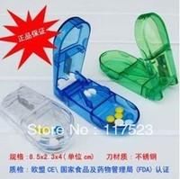 Free Shipping  2 Color 10pcs/lot  Portable Kit Seal Kit Cut Pill Doser Breaking Drug Is Family Kit
