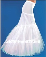 Hot sale New White 2 hoops mermaid wedding dress petticoat crinoline Hot Sale! mermaid petticoat crinoline