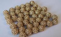 Fasion!Free Shipping!10mm 100pcs/lot Yellow Micro Pave CZ Disco Ball Beads Shamballa Crystal.Wholesale! Stock!High Quality!