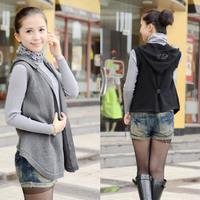 Free Shipping  autumn vest women's loose cardigan plus size cape sweater outerwear vest