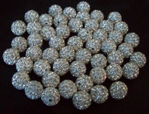 Fasion!Free Shipping!10mm 100pcs/lot White Micro Pave CZ Disco Ball Beads Shamballa Crystal.Wholesale! Stock!High Quality!(China (Mainland))