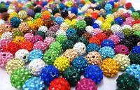 Free Shipping!10mm 450pcs/lot Mix Beads multi color CZ Disco Ball Beads Shamballa Crystal.CW New Wholesale! Stock!Mixed Lot!