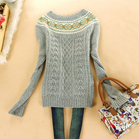 Free Shipping Juniors clothing school wear 2013 spring long-sleeve o-neck pullover basic shirt sweater