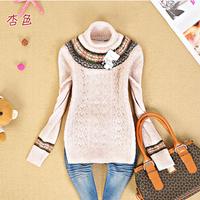 Free Shipping Juniors clothing school wear 12 autumn and winter slim turtleneck basic shirt sweater