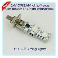 Free shipping H1 4 pcs ORSAM high power and high brightness LED  fog  light  2013 new sytel retail