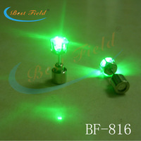 2013 NEW arrival New design 800pcs/lot(400pairs)Free shipping 20*7mm 8color led stud earring hip hop earring for party gift