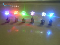 2013 NEW arrival New design 60pcs/lot(30pairs)Free shipping 20*7mm 8color  light up led earring light earring for party gift