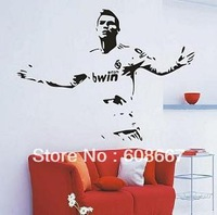Free shipping Wall sticker CHRISTIANO RONALDO  LA LIGA FOOTBALL Wall Mural Decal Home Decor Art Wall decor Vinyl C-45
