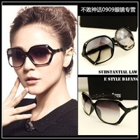 Free shipping T56 vintage big black box the sun glasses male Women fashion gradient sunglasses