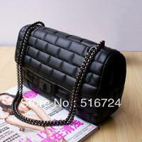 Free shipping 2013 fashion handbags brick pattern metal chain shoulder bag Messenger bag