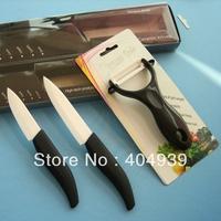 3sets/lot kitchen ceramic knife set 3'' 4'' peeler ceramic kitchen knives knive chef knive SGS certified     25days to Russia