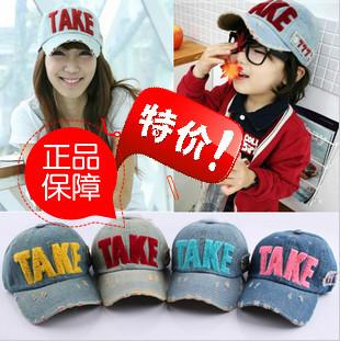 Free Shipping Women and Child Baseball cap baby denim cap Autumn and winter parent-child hat