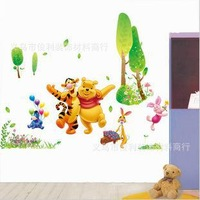 best friend winne and tigger tv / sofa / chicken wall stickers FREE SHIPPING