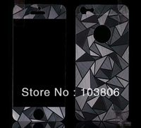 Front&back full body 3D Diamond screen protector with retail packaging for iphone 5,free shipping  FEDEX OR EMS