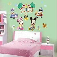 cute micky mouse childrens real friend tv / sofa / wall stickers FREE SHIPPING