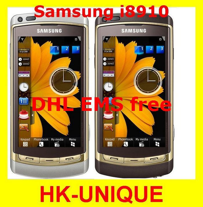 HK Post free shipping I8910 Original Samsung i8910 Omnia HD 3G 3.7'' Touchscreen Wifi A-GPS 8MP 8G Internal Memory Cell Phone(China (Mainland))
