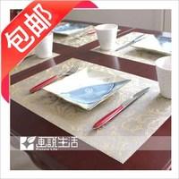 38 fashion pvc film waterproof mat coasters disc pads table mat heat insulation pad western pad