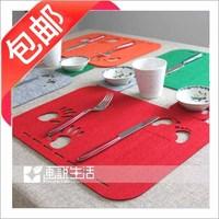 38 hand footprint cartoon tapirs coasters disc pads dining table mat placemat heat insulation pad