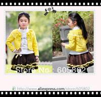 Комплект одежды для девочек Children's clothing summer female child set short-sleeve T-shirt braces skirt twinset