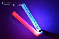 Free shipping 25pcs/lot 4*40cm 7function multi color changing  led foam stick glow stick lef flashing stick