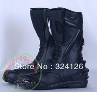 New Motorcycle boots Racing Boots,Motocross Boots,Motorbike boots black&red SIZE: 40/41/42/43/44/45/46 all black