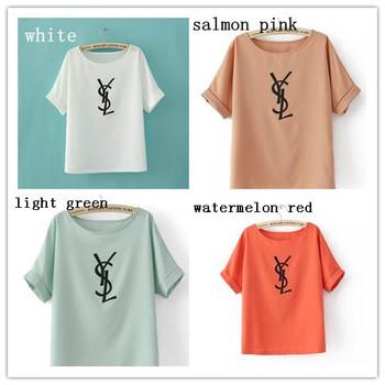 2014 women chiffon blouse women chiffon T-shirt clothing fashion ladies  chiffon shirt good quality Free shipping