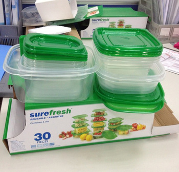 Free shipping 30Pcs/set Reusable Plastic Food Storage Containers Set With Air Tight Lids,Always Fresh Container