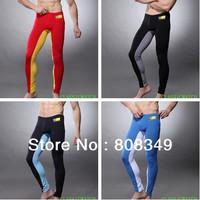 2013 Men's Athletics long pants sport trousers low waist sexy seobean Sleep Bottoms mixed colors Black/Red/Blue XL Free Ship