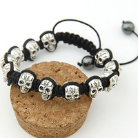 [ Life Art ] 24pcs/lot  casual shamballa bracelet new arrival design unisex shamballa bracelet rock punk fashion
