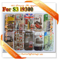 20pcs/lot Glossy Hard  Plastic Phone case Vintage case covers for Galaxy S3 I9300 freeshipping UK