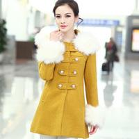 Free Shipping Winter women's thickening wool coat medium-long woolen slim outerwear wool coat