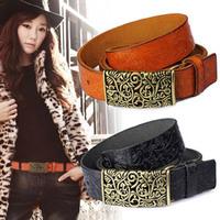 Fashion women's genuine leather strap casual female belt cutout buckle cowhide female strap