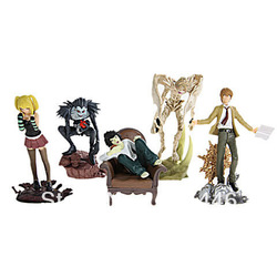 5PCS Death Note PVC Anime Figure Set Desktop Display Toy(China (Mainland))