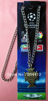 Portugal National Soccer Team Bronze Pendant Necklace