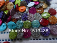 300pcs free ship!14mm Glittering high-grade quality acrylic resin button,DIY appliques/sewing/scrapbook/craft/Cardmaking mix lot