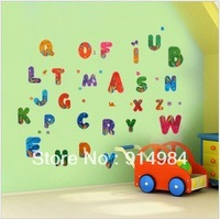 Free shipping parlour bedroom decoration Sofa TV background can remove Wall sticker Eglish letter