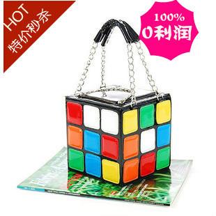 2013 New Handbag Purse Gift,Girl Women's Cute Magic Cube Bag ,free shipping Q172