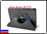New Black Rotating 360 Degree Stand Folio Leather Case Cover For Acer Iconia Tab A510 A511 Tablet PC
